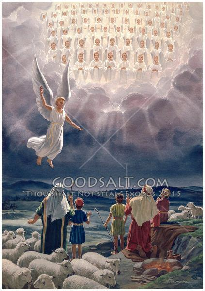Angles Appearing Before Shepherds | Bible pictures, The
