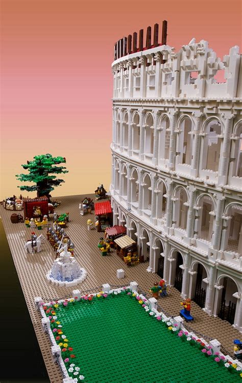Architect Builds World's First LEGO Colosseum - DesignTAXI