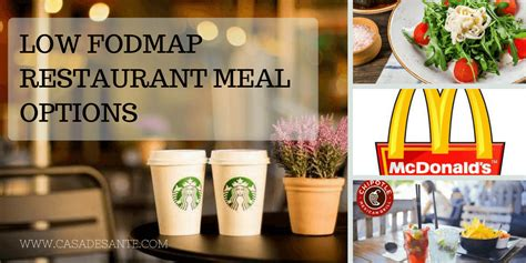 FODMAP Friendly Options at Fast Food Restaurants by Staci