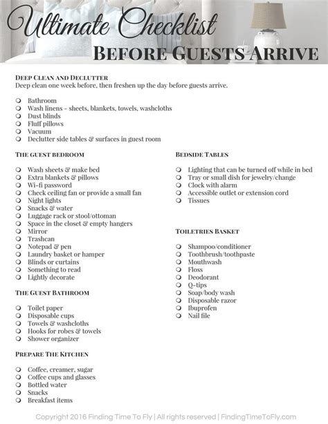 Ultimate Checklist Before Guests Arrive | Guest room
