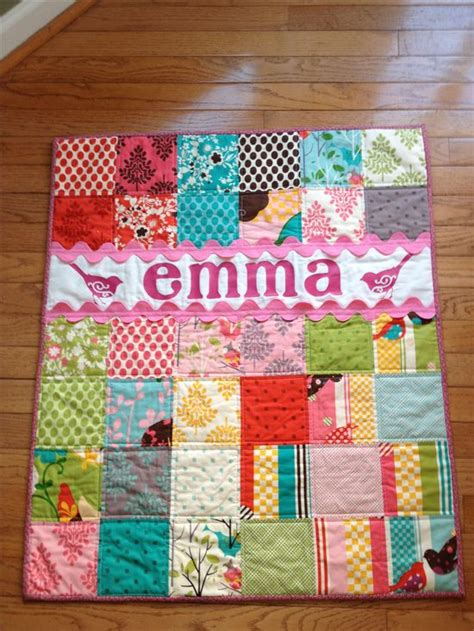 I Love Lovely Babies: Baby Girl Patchwork Quilt Scrappy