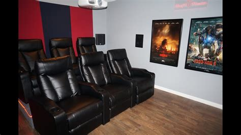 Updated DIY Home Theater Movie room w/ Epson 3020