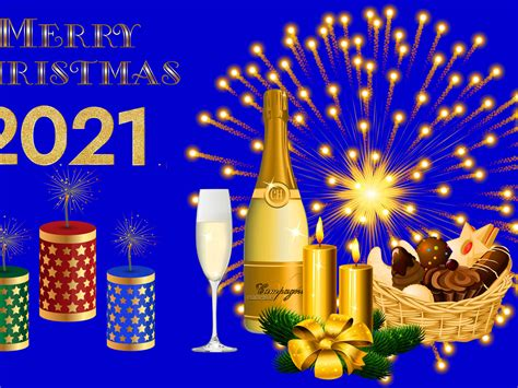 Merry Christmas And Happy New Year 2021 Gold Ultra Hd