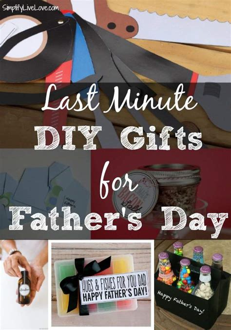 Last Minute DIY Father's Day Gifts   Simplify, Live, Love