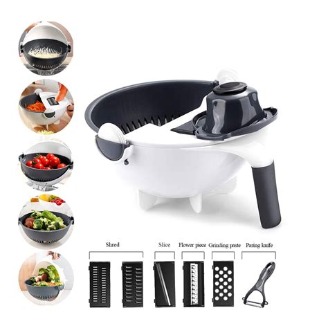 Multifunction 9 In 1 Magic Rotate Vegetable Fruit Cutter