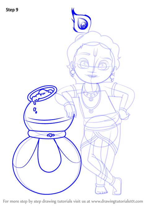 Learn How to Draw Bal Krishna (Hinduism) Step by Step