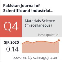 Pakistan Journal of Scientific and Industrial Research