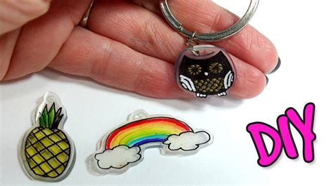 DIY Shrink Plastic Charms! How to make personalized key