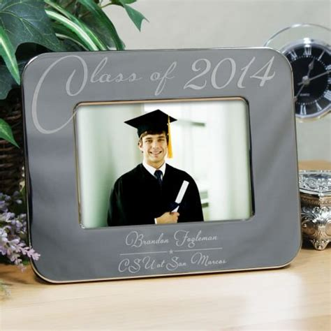 Silver Graduation Picture Frame   GiftsForYouNow