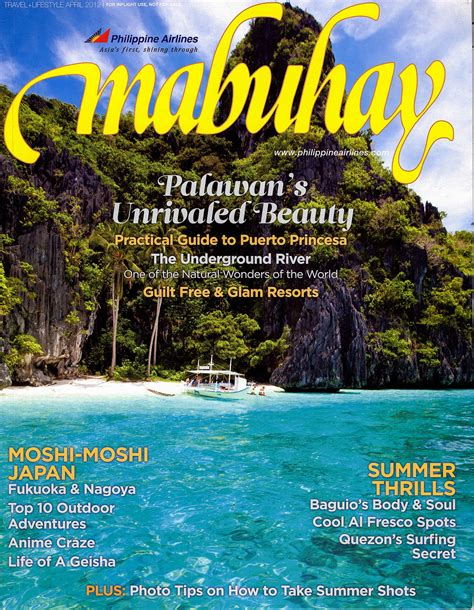 El Nido, Palawan   Cover Photo   Philippine Airlines