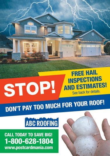13 Brilliant Roofing Direct Mail Postcard Advertising