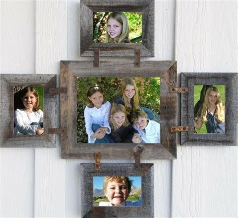 Reclaimed Barn Wood Picture Photo Collage Frame 8x10 & (4