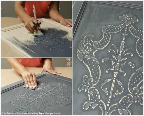 How to Stencil: Create a DIY Raised Carved Wood Effect