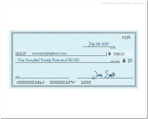 Print Your Own Checks Template   The Passion
