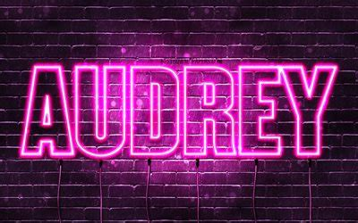 Download wallpapers Audrey, 4k, wallpapers with names