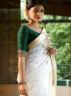 What blouse suits a silver-border Kerala saree? - Quora