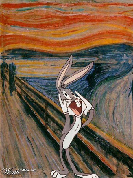 Bugs Bunny - Cartoon Characters Reimagined In Famous