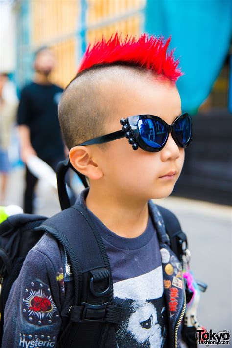 6-Year-Old Harajuku Kid w/ Mohawk in Patched Jacket
