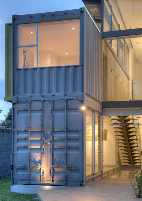 8 Shipping Containers Make Up a Stunning 2-Story Home