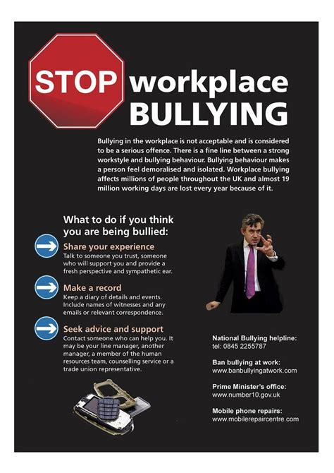 United Kingdom Stop Workplace Bullying Poster