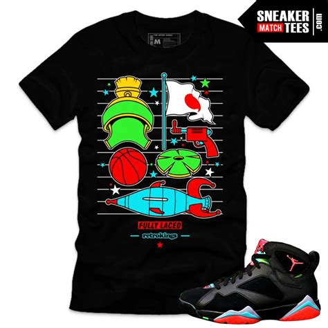 Marvin the Martian 7s matching sneaker tees shirts