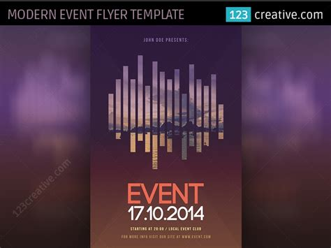 Modern Event Flyer Template PSD by 123creative on Dribbble