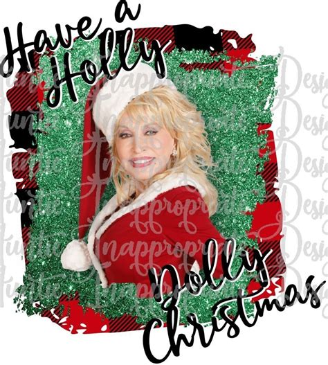 Holly Dolly Christmas 2 PRINTED SUBLIMATION TRANSFER
