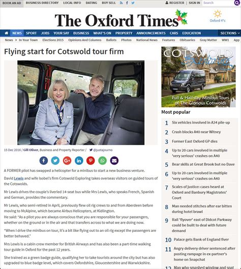 Oxford Times Feature – Cotswold Exploring