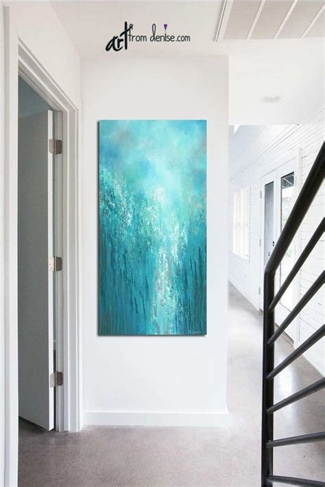 Vertical extra large wall art canvas abstract Tall narrow