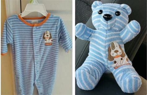 Simple Keepsake Ideas Made with Baby Old Clothes