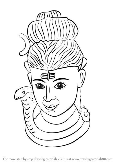 Step by Step How to Draw Lord Shiva Statue