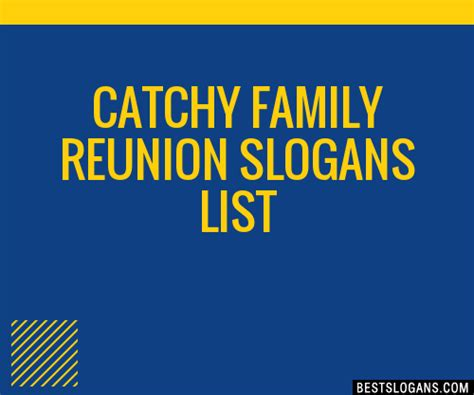 30+ Catchy Family Reunion Slogans List, Taglines, Phrases