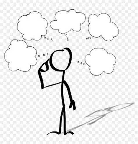 Drawing Person Thought Cartoon Stick Figure - Person With