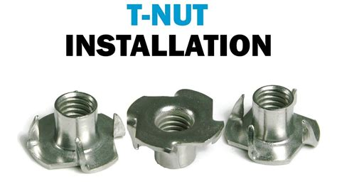Installing T-Nuts In Wood | Fasteners101 - YouTube