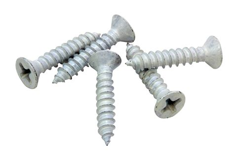 White Xylan Coated Stainless Flat Head Phillips Wood Screw