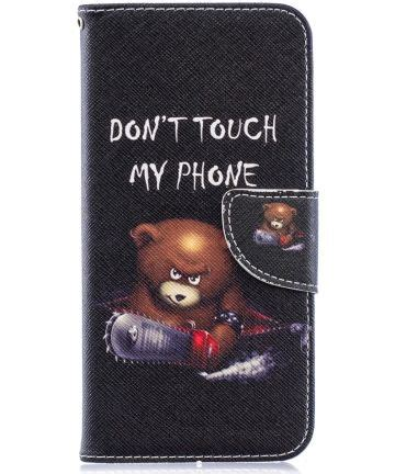 Huawei Y6 2019 / Y6s Book Case Hoesje Don't Touch My Phone