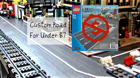 HOW TO MAKE A CUSTOM LEGO ROAD FOR UNDER 7$ - YouTube